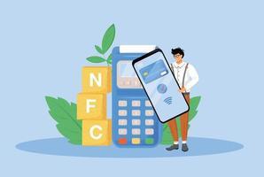 NFC-Zahlung flache Konzept Vektor-Illustration vektor