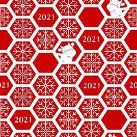 nahtloses Neujahrsmuster 2021 vektor