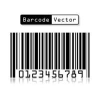 Barcode-Vektor auf weißem Hintergrund vektor
