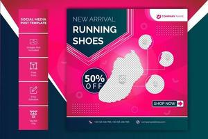 Neuankömmling Schuhe Verkauf Post Web Banner Vorlage vektor