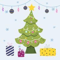 Weihnachtsbaum Hintergrund vektor