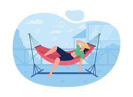 Schlafen in der Hängematte Vektor Web Banner