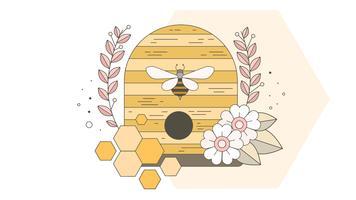 Bienenstock-Vektor