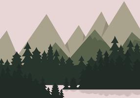 Bergsee Landschaft vektor