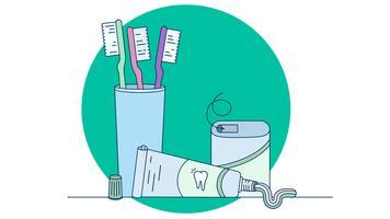 Zahnpflege-Vektor vektor