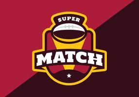 amerikansk fotboll super match vektor