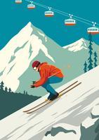 Skifahrer vektor