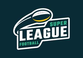 super liga fotboll emblem vektor