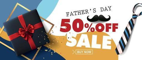 lycklig fäder dag försäljning banner bakgrund vektor