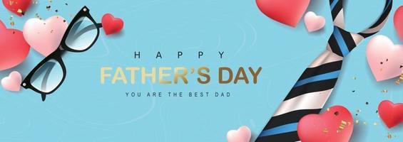 glücklicher Vatertagsfahnerhintergrund vektor