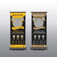 Fast-Food-Roll-up-Banner vektor