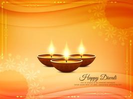 Abstrakter schöner glücklicher Diwali-Festivalhintergrund vektor