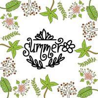 Sommerrahmen Textvorlage Vektor Hintergrund