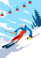 Skifahrer-Illustration vektor