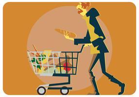 En man i minimarketvektor