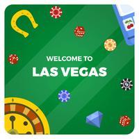 Flache Las Vegas-Kasino-Vektor-Illustration