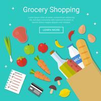 Lebensmittelgeschäft-Einkaufsvektor vektor