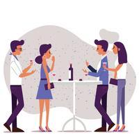 Partys und Sammeln von Vektor-Design