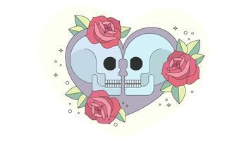 Liebe zum Knochen Vektor