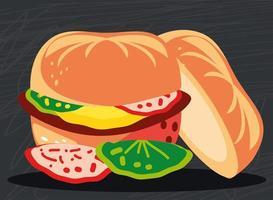 Fast-Food-Hamburger vektor