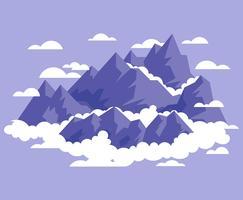 Berglandschaft erste Person Illustration