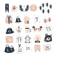 super girly christmas advent kalender vektor