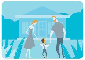 Glücklich Adoptierte Familie Vektor