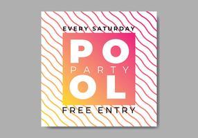 Pool Party Einladung vektor
