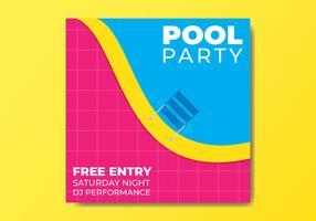 Pool Party Flyer Vorlage vektor
