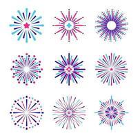 minimalistische Feuerwerksikonensammlung vektor