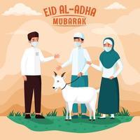 eid al adha versammelt sich mit protokoll vektor