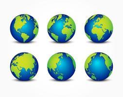 alle seiten des planeten auf der ganzen welt erdschutzkonzept vektor