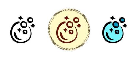 Seifenblasen Umriss und Farben und Retro-Symbole vektor