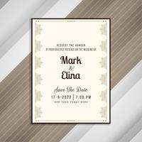 Abstraktes elegantes Hochzeitseinladungs-Karten-Design vektor