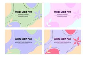 trendiger vektor von minimalen flüssigen organischen formen abstrakter hintergrund ideal für postblogs poster flyer memphis pastell bunte formen kritzeln
