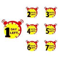 Countdown-Symbol noch ein Tag vektor