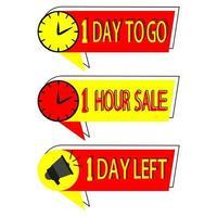 Countdown-Abzeichen zum Verkauf sale vektor