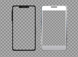 Smartphone Gerätetechnologie isoliert Symbol vektor