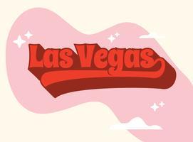 Las Vegas Typografie vektor
