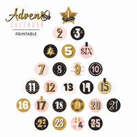 Utskrivbar Advent Calendar Christmas Tree