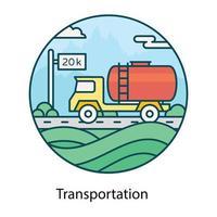 Transportöltank vektor