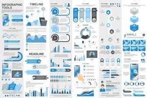 Infographic-Elementdatenvisualisierungsvektor-Designschablone vektor