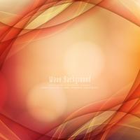 Abstrakter glänzender roter Wellenhintergrund vektor