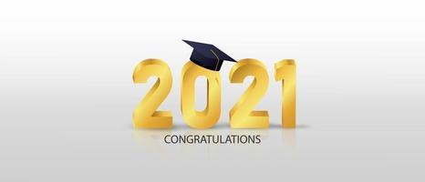 Grattis kandidater klass 2021 banner vektorillustration och design för affischkort vektor