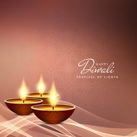Abstrakter glücklicher Diwali Festivalhintergrund vektor