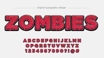 rot tropfende Großbuchstaben Typografie vektor