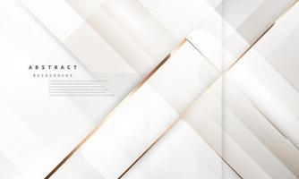 moderner abstrakter luxuriöser weißgoldener Hintergrund vektor