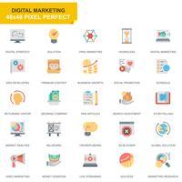 Simple Set Business och marknadsföring platt ikoner för webbplats och mobilappar vektor