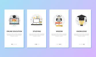 Onboarding-Bildschirme für Mobile App-Vorlagen-Konzept