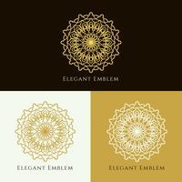 Abstrakter eleganter Emblemdesignsatz vektor